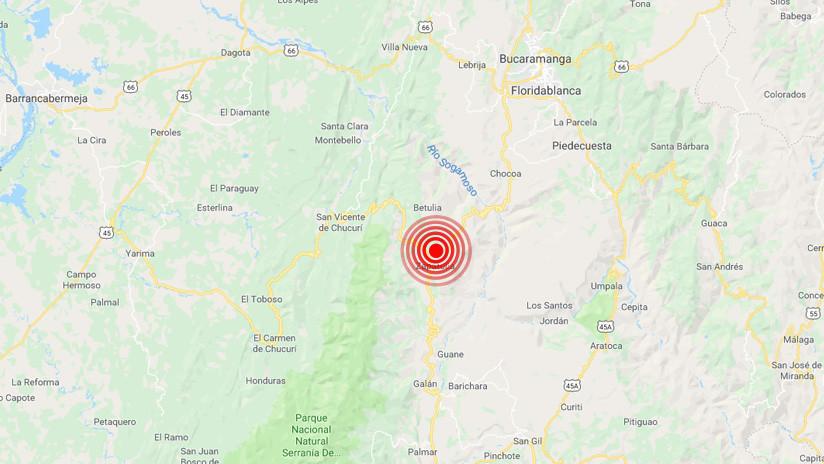 Un fuerte temblor de magnitud 5,4 sacude Colombia