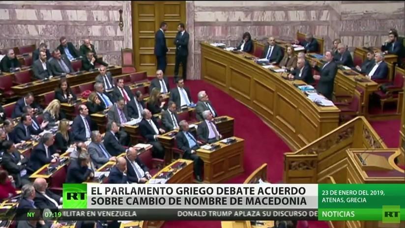 El Parlamento griego debate el acuerdo sobre el cambio de nombre de Macedonia
