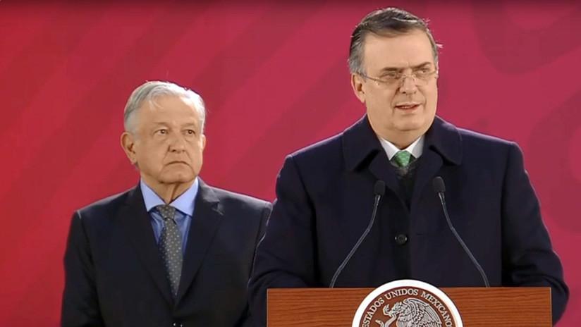 """Canciller de México: """"No vamos a apoyar el desconocimiento de Nicolás Maduro"""""""