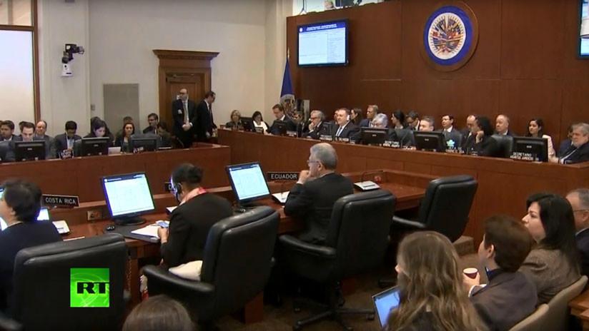 """16 de 34 países miembros de la OEA respaldaron a Guaidó como """"presidente encargado"""" de Venezuela"""