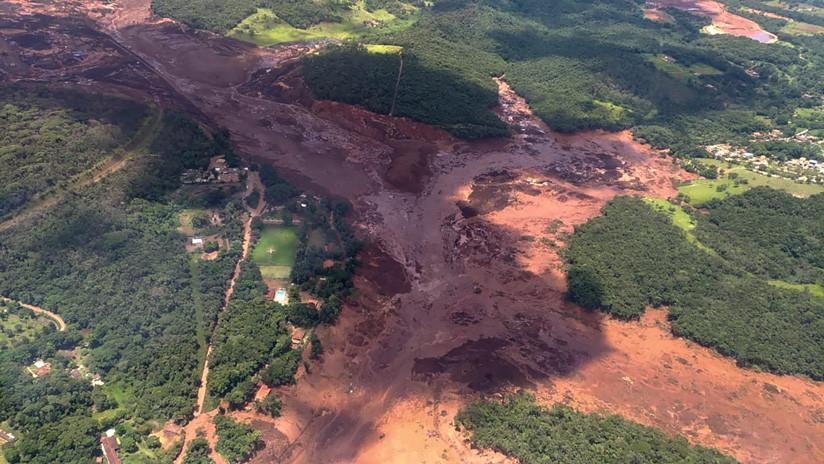 Al menos 300 desaparecidos tras la ruptura de un dique minero en Brasil