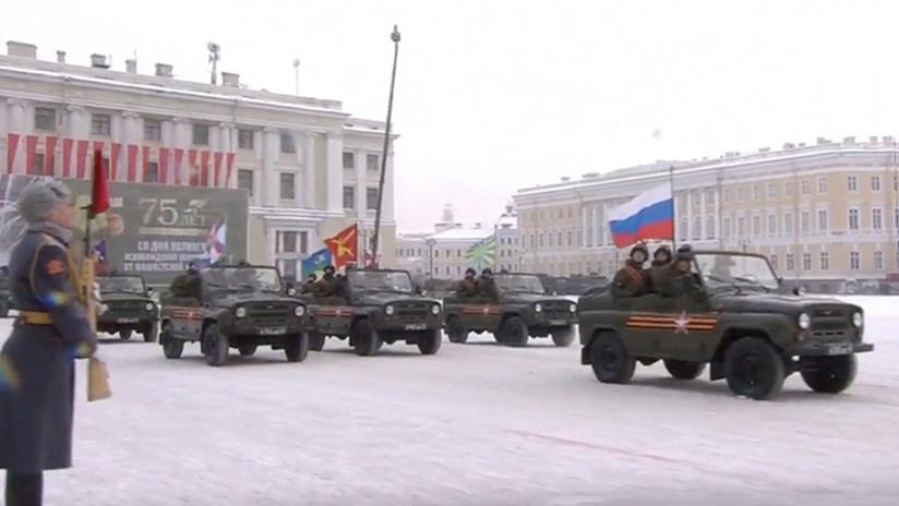 Rusia conmemora el feroz sitio de Leningrado, en el que murieron cerca de 1,5 millones de personas