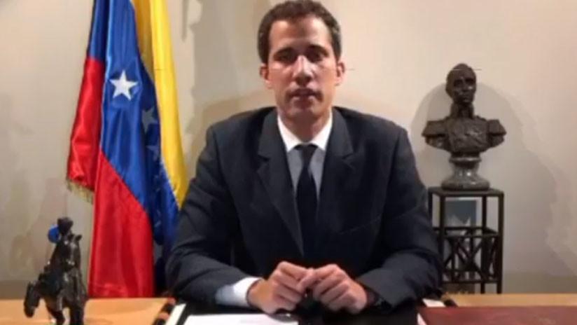 VIDEO: El opositor Juan Guaidó se dirige a Venezuela con un discurso