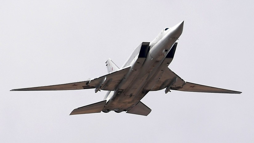 El video del siniestro de un bombardero ruso Tu-22M3