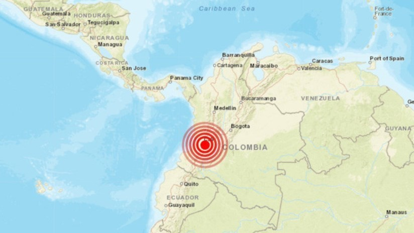 Un sismo de magnitud 4,7 se registra en Colombia