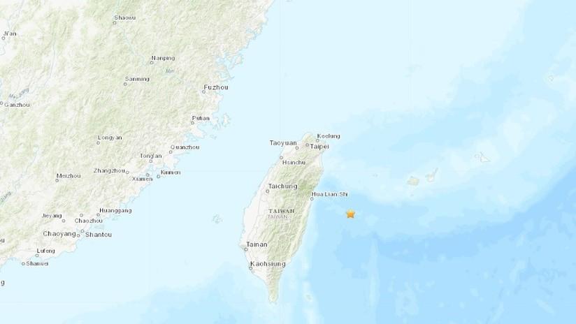 Un sismo de magnitud 5,7 sacude las costas de la isla china de Taiwán