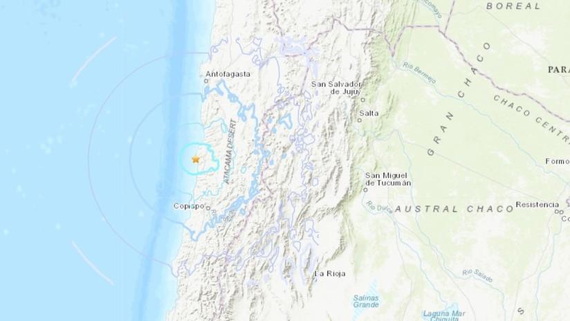 Se registra un terremoto de magnitud 5,6 en Chile