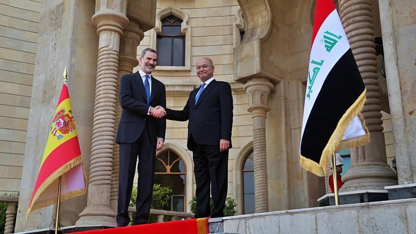 Felipe VI visita por sorpresa las tropas españolas desplegadas en Irak