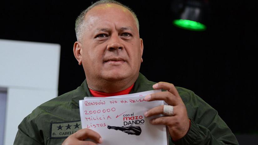 """""""2.000.000 en milicia, listos"""": Cabello responde al polémico apunte de Bolton"""