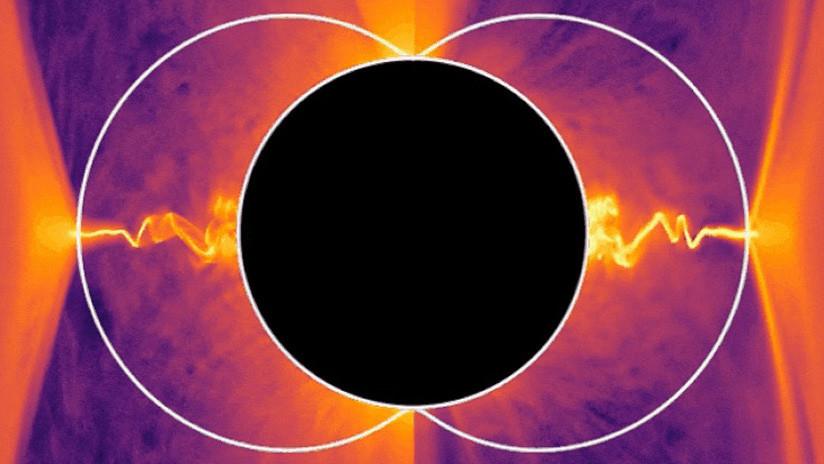 VIDEO: Descubren que los chorros de plasma de los agujeros negros podrían generarse gracias a una enigmática energía negativa