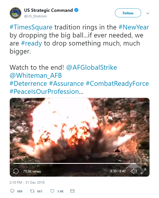 Comando de EU se disculpa por tuit sobre bomba