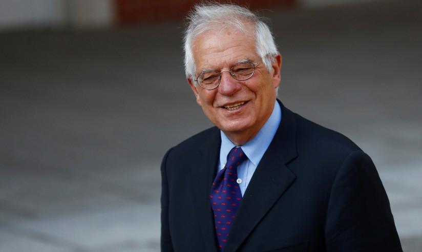 Canciller de España, Josep Borrell, frente al Palacio de la Moncloa en Madrid, 6 de julio de 2018. / Juan Medina / Reuters