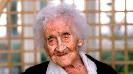 Imagen de archivo (1996) de Jeanne Calment, supuestamente la persona más longeva del mundo.