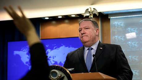 El secretario de Estado de EE.UU., Mike Pompeo en Washington, EE.UU., el 20 de noviembre de 2018