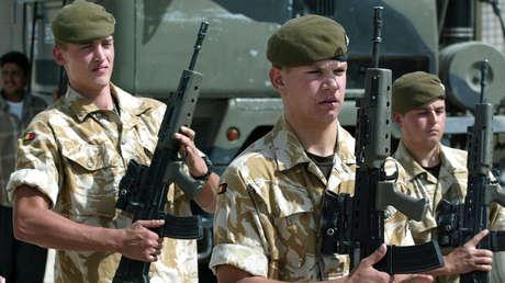 Soldados británicos en 2005.