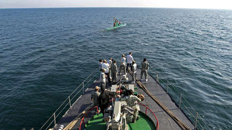 Maniobras de la Marina iraní, foto de archivo