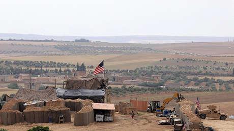 Base de las fuerzas estadounidenses en Manbij (Siria), el 8 de mayo de 2018.