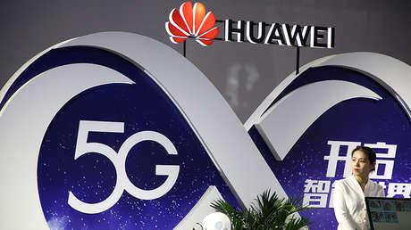 Huawei en la feria de nuevas tecnologías PT Expo China, Pekín, 28 de septiembre de 2018.