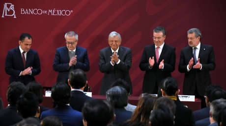 El presidente Andrés Manuel López Obrador durante un evento en Ciudad de México, el 8 de enero de 2019.