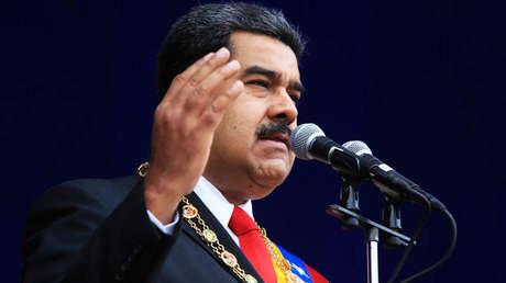 El presidente de Venezuela, Nicolás Maduro, habla durante un evento militar en Caracas. 4 de agosto de 2018