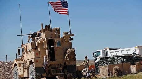 Soldado estadounidense en un puesto instalado en Manbij (Siria), el 4 de abril de 2018.
