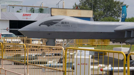 Un dron Wing Loong II.