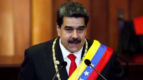 El presidente de Venezuela, Nicolás Maduro, en la Corte Suprema de Venezuela, 10 de enero de 2019.