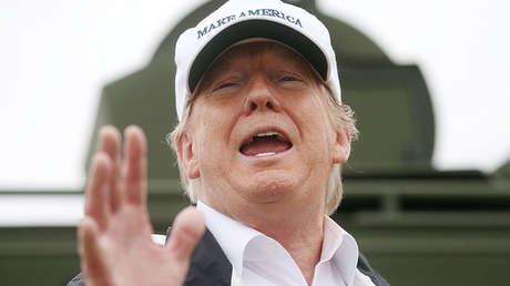 El presidente de EE.UU., Donald Trump, durante su visita a la frontera con México en Mission, Texas, el 10 de enero de 2019.