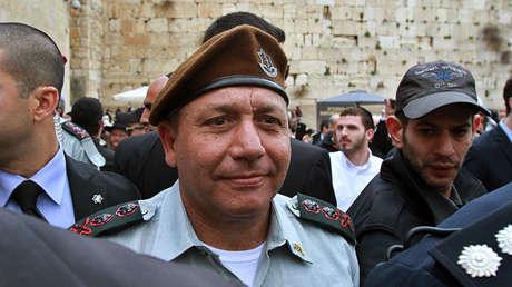 Gadi Eisenkot visita Jerusalén durante su ceremonia de juramente, el 16 de febrero de 2015.
