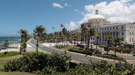 El edificio del Capitolio en San Juan (Puerto Rico, EE.UU.), 4 de mayo de 2017.