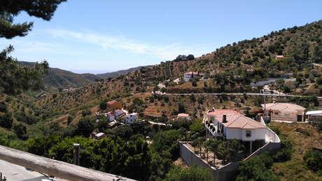 Paisaje próximo a Totalán, Andalucía, España.