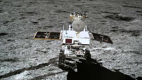 El explorador chino Yutu-2 en la superficie de la Luna, 11 de enero de 2019.
