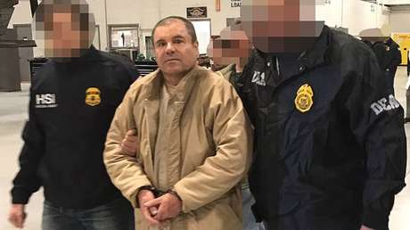 Joaquín 'El Chapo' Guzmán durante su extradición a EE.UU., Ciudad Juárez, México, 19 de enero de 2017.