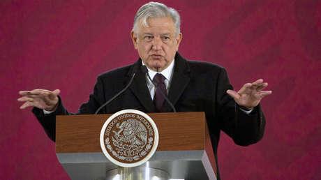 Andrés Manuel López Obrador durante una conferencia de prensa en Ciudad de México, 9 de enero de 2019.