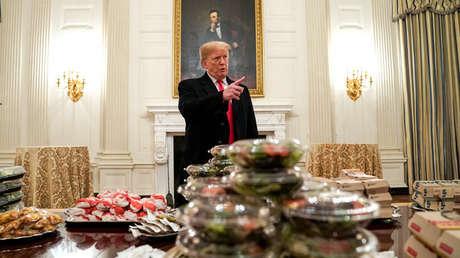 El presidente de EE.UU., Donald Trump, en la Casa Blanca, 14 de enero de 2019.
