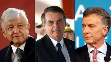 López Obrador, Jair Bolsonaro y Mauricio Macri.