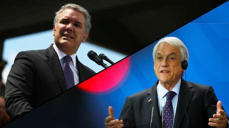Los presidentes de Colombia, Iván Duque, y Chile, Sebastián Piñera.