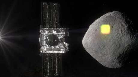 La representación artística del asteroide Bennu