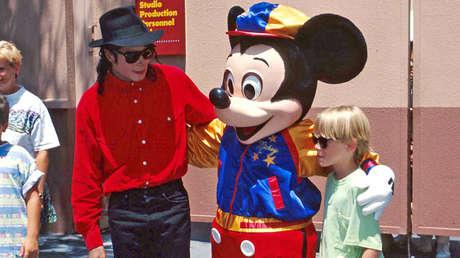 Michael Jackson y Macaulay Culkin en Disneyworld, Orlando, Florida. 21 de junio de 1991.