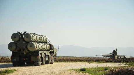 El complejo de misiles S-400 en la base aérea de Jmeimim en Siria.
