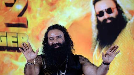 El gurú Gurmeet Ram Rahim Singh en la presentación de una de sus películas. Mumbai, 8 de septiembre de 2015.