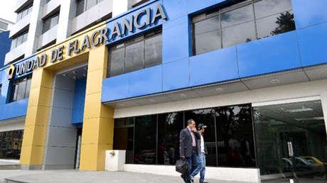 Unidad de Flagrancia en Quito, Ecuador.