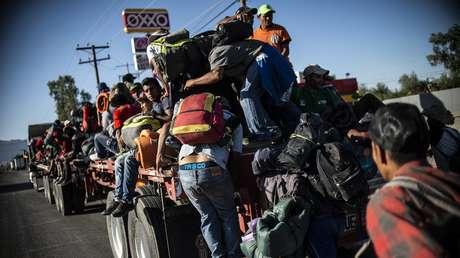 Caravana de migrantes centroamericanos en México, el 20 de noviembre de 2018.