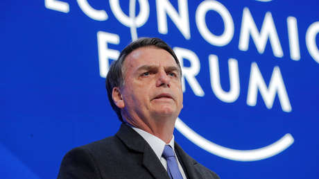 El presidente de Brasil, Jair Bolsonaro, en el Foro Económico Mundial, Davos, Suiza, 22 de enero de 2019.