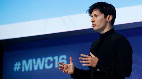 El fundador del servicio de mensajería Telegram, Pável Dúrov, en Barcelona, España, el 23 de febrero de 2016.