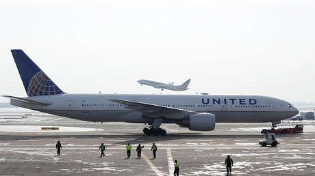 Un Boeing 777 de la compañía United Airlines.