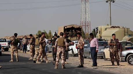 Los peshmerga kurdos cerca de Altun Kupri, entre Kirkuk y Erbil, Irak, el 20 de octubre de 2017.