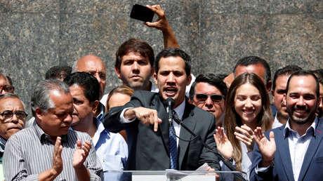 El dirigente opositor venezolano Juan Guaidó en Caracas, Venezuela, el 25 de enero de 2019.