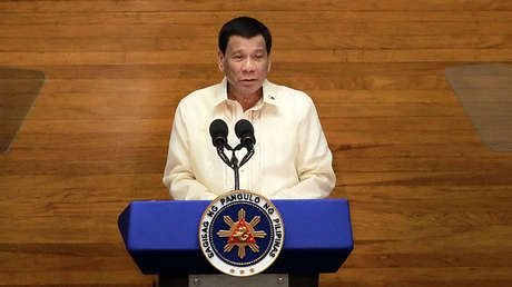 El presidente de Filipinas, Rodrigo Duterte, 23 de julio de 2018.