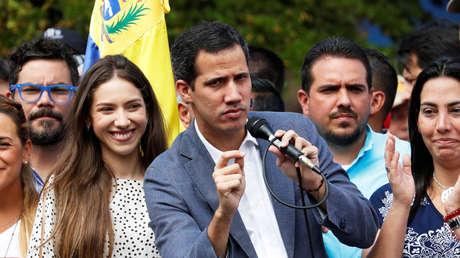 Juan Guaidó habla durante un mitin en Caracas, Venezuela, el 26 de enero de 2019.